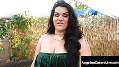 Thick Latina Angelina Castro Sucks & Milks A Lucky Hard Cock