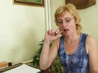 Sexy teacher class Milf teacher nasty fingering after having a class
