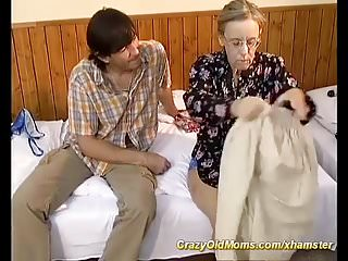 Her first anal sex porn Busty hairy granny enjoys her first anal sex