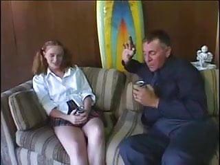 Naughty ginger teens Ginger teen fucks her landlord