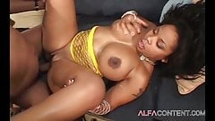 Curvy Ebony letting her lover fuck her ass for his Bday