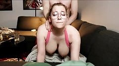 Sexy girl in glasses homemade sex