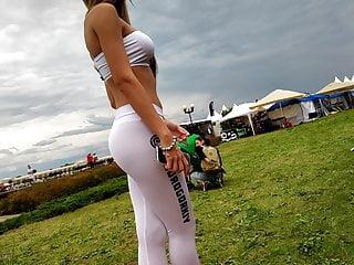 Voyeur promo pic Voyeur - promo girl in white leggings