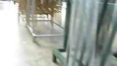 flash upskirt in the supermarket