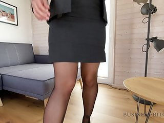 Yes maam domination play Dominant corporate bitch dildo play - business-bitch