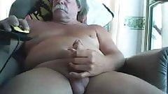 dad with a lush mustache - jerking off