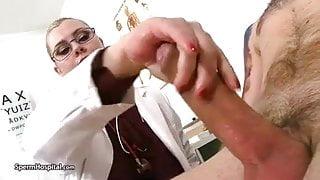 Big boobs doctor – blowjob and cum