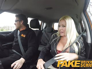 Melanie squirting orgasm - Fake driving school squirting orgasm busty milf takes creamp