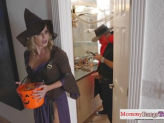 Halloween costumes adult homemade scarecrow Busty stepmommy doggystyled in a costume