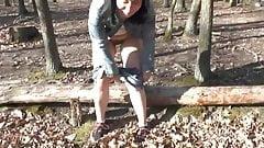 Sexymandy pissing outdoor