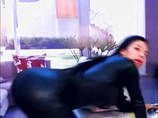 Catwoman adult costume - A catwoman masturbating and having fake huge squirt