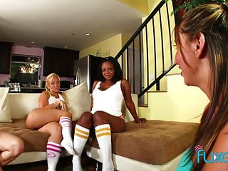 Lesbian cheerleader hentai Lesbian cheerleader foursome