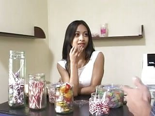 Asian jelly candy Asian kina kai gives her candy