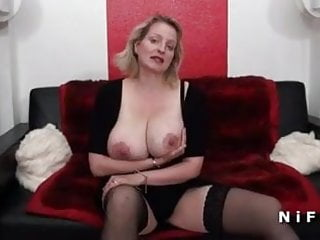 Huge tits and double penetration Bbw french milf with huge boobs double teamed