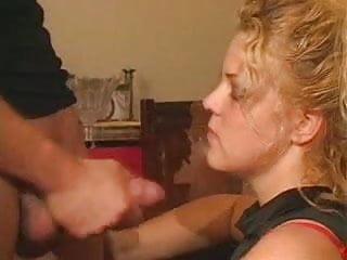 Facials cum shot sluts messy lipstick Blonde italian slut recieves messy facial