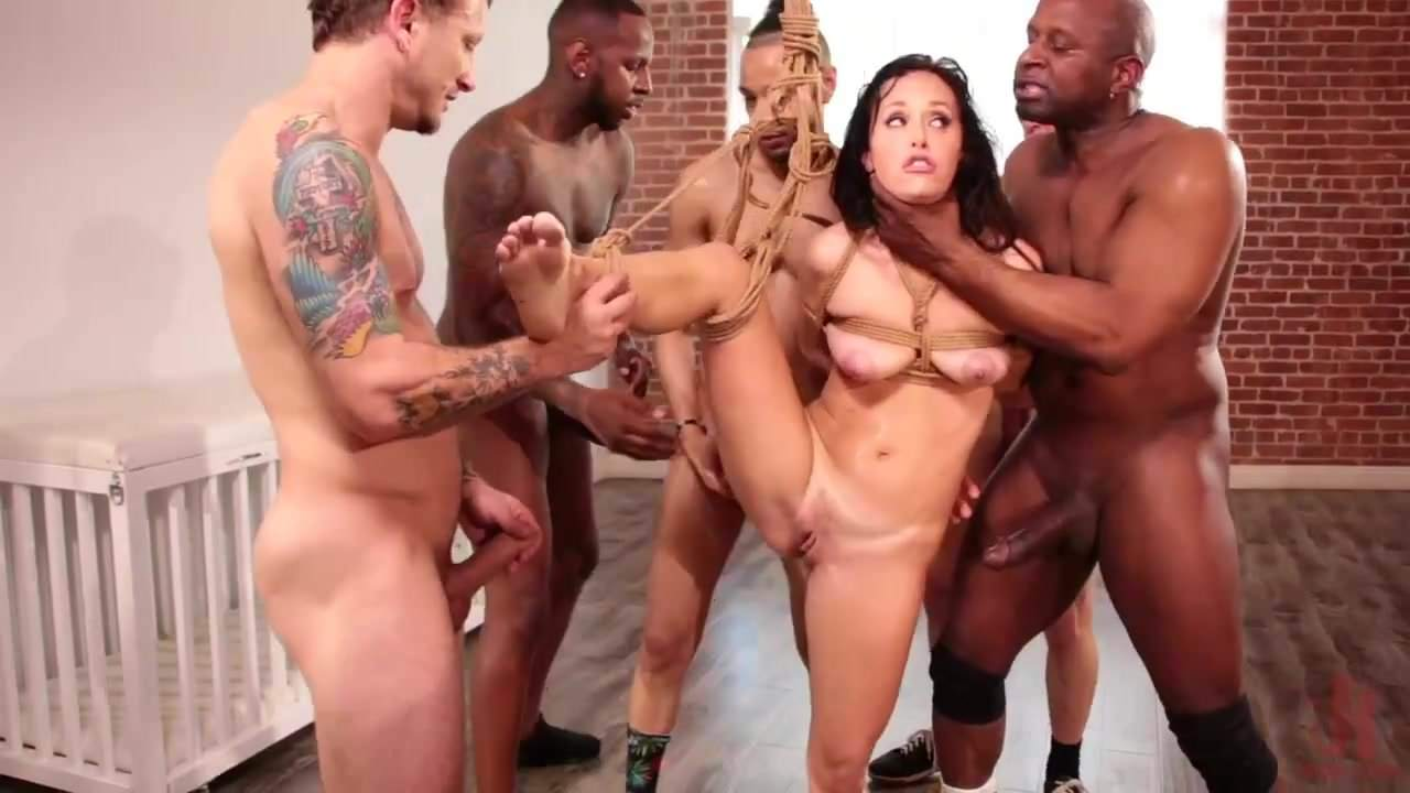 Rough Anal Gangbang Crying