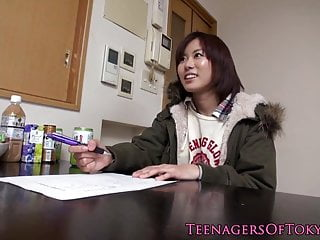Japanese fucked over desk Amateur asian teen fucked over washing machine
