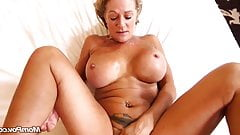 Horny mature woman with a stranger on vacation