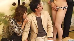 Bizarre Japanese game show couple watches orgy unfold