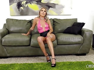 In live sex show vegas - Big tit blonde spanking her ass in live show before masturba