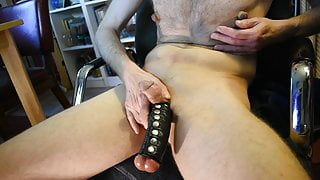 Extremely stretched balls and pumped nipple play