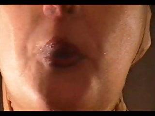 Lipstick cumshots - Lipstick blowjob with nylon mask