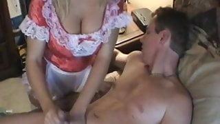 Amber Lynn Bach - Hot Maid gives Handjob