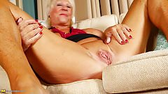 Granny old and crazy and hungry for fuck