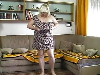 Chubby blonde italian girls - Chubby blonde mature strips and masturbes with dildo