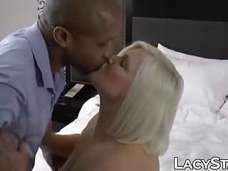 Grannies suck black cock Granny with big tits drilled by black cock after sucking