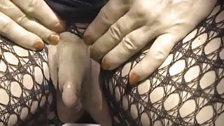 Colette and her enormous erect clitoris