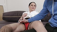 TUTOR4K. Mature woman didn't expect her new student…