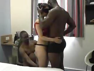 Surprised double penetration Wife birthday surprise threesome with two bbc in hotel