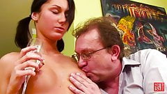 College Girl Blowjob and Riding on Huge Cock Student
