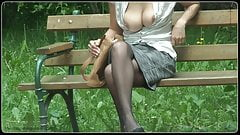 secretary - tits out in public