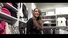 shopping fucking in changing room black pantyhose