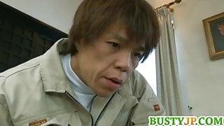 Busty hot milf Mio Takahashi