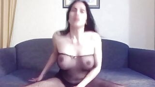 webcam striptease with cumshot by sexy trans anairb