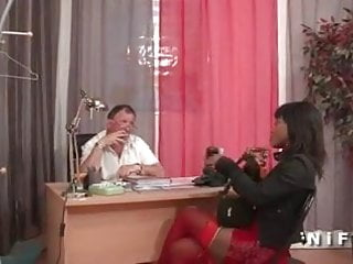 Double fisting black French black slut double fist fucked and sodomized