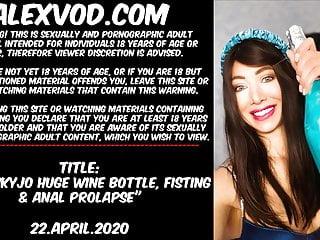 Having sex with huge bottles tubes Hotkinkyjo huge wine bottle, fisting anal prolapse