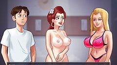 Summertime saga - sexo com Tina e Becca, mãe e filha