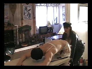 Femdom testicle piercing Mistress evolyn pierce strapon