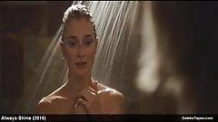 celeb Caitlin FitzGerald & MacKenzie Davis naked & lingerie