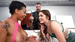 Ebony September Reign Tries Vanessa Vega's Boyfriend's Cock