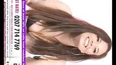 Clara croft ...ホワイトトップピンクタータンミニスカート&ブラックブラ3