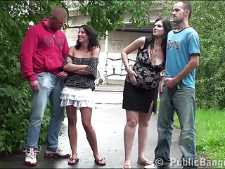Sex in streets videos - Street public sex orgy with a very pregnant girl