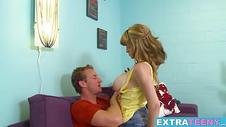 Busty teen Scarlet Monroe blowing and riding big cock