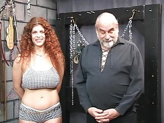Sex slave lingerie - Redheaded slave gets bounded, blindfolded, and tortured in a sex basement
