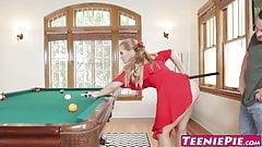 Busty creampied beauty Sloan Harper bouncing on cock