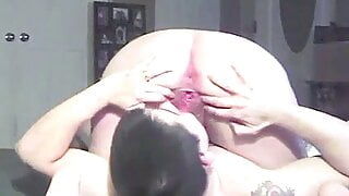 My asshole and dripping wet pussy juice licked clean
